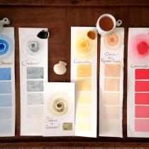 Il mio progetto del corso: Preparazione di acquerelli artigianali. Un proyecto de Artesanía, Bellas Artes, Pintura, Pintura a la acuarela, DIY y Teoría del color de Francesca - 19.07.2021
