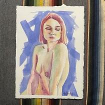 My project in The Human Figure in Watercolor course. Un progetto di Illustrazione, Belle arti, Pittura, Pittura ad acquerello, Disegno realistico , e Disegno anatomico di DAVID SHANKLIN - 21.07.2021