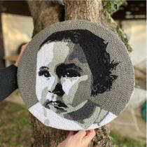 Mi Proyecto del curso:  Bordado con punch needle: pasa de la imagen al retrato. Um projeto de Ilustração de retrato, Bordado e Ilustração têxtil de Pamela Díaz Cuevas - 27.06.2021