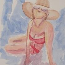 Mi Proyecto del curso: Figura humana en acuarela. Un progetto di Illustrazione, Belle arti, Pittura, Pittura ad acquerello, Disegno realistico , e Disegno anatomico di m_garcia_estela - 23.07.2021