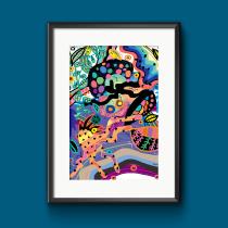 My project in Flat Illustration with Photoshop course. Un proyecto de Ilustración, Diseño editorial, Bellas Artes, Pintura, Pattern Design, Ilustración vectorial, Ilustración digital, Estampación y Pintura digital de bmenekse011 - 24.07.2021