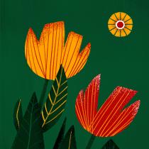 Flores ilustradas. Un proyecto de Ilustración, Ilustración digital y Pintura digital de Cecilia Moronari Leite - 02.01.2021