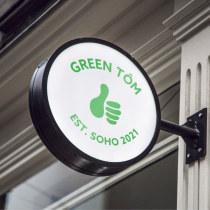 Creation of an Original Logo from Scratch - Green Tôm Asian Fusion Café Branding. Un projet de Design , Br, ing et identité, Design graphique , et Création de logo de Rebecca Gardner - 23.07.2021