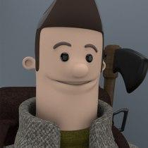 Mi Proyecto del curso: Diseño e ilustración 3D de personajes. Un proyecto de 3D, Diseño de personajes, Modelado 3D y Diseño de personajes 3D de José Alejandro Gutiérrez soza - 24.07.2021