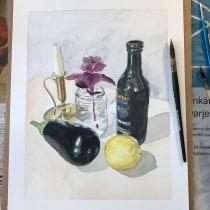 My project in Contemporary Still Life with Watercolor course. Un proyecto de Ilustración, Pintura y Pintura a la acuarela de Lisa Torkelson - 28.07.2021