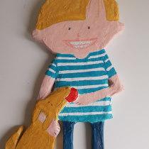 My project in Paper Mache for Beginners: Sculpt a Colorful Character course. Un progetto di Character Design, Design di giocattoli , e Art To di de.wit.edith - 28.07.2021