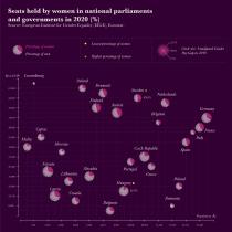 Women in EU Parliaments: My project in Data Visualization and Information Design.. Un proyecto de Arquitectura de la información, Diseño de la información, Diseño interactivo e Infografía de francimilano - 31.07.2021