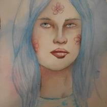 Mon projet du cours : Portraits à l'aquarelle expressifs. Un progetto di Illustrazione, Belle arti, Pittura, Pittura ad acquerello, Illustrazione di ritratto , e Disegno di ritratto di patricia LACANNE - 31.08.2021