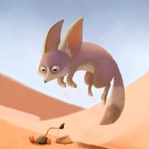 Proyecto Fennec Fox. A Illustration, Design von Figuren, Zeichnung und Digitale Illustration project by Ale Luca - 31.07.2021