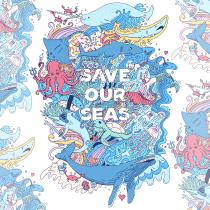 Save Our Seas. Um projeto de Ilustração, Ilustração vetorial e Ilustração digital de sianhulse - 08.08.2021