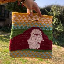 Mi Proyecto del curso: Tapestry: técnica de crochet para dibujar con hilos. Un projet de Création d'accessoires, Mode, Création de motifs, Tissage, DIY , et Crochet de Francisca Imboden Fernández - 12.08.2021