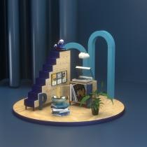 PROYECTO ANTOLOGÍA DE GUSTOS PERSONALES. Un progetto di 3D, Illustrazione digitale, Modellazione 3D , e Progettazione 3D di Luis Plaza - 16.08.2021