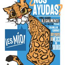 _Bases del Diseño Gráfico para Ilustradores_Proyecto-OCELOTE en Peligro de Extinción_. Un progetto di Illustrazione , e Graphic Design di A Reza del Castillo - 18.08.2021