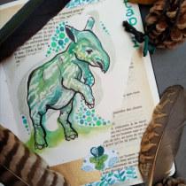 Mon projet du cours : Illustration d'animaux : représentez la faune sur un sketchbook. A Illustration, Collage, Sketchbook, and Naturalist Illustration project by Maud Chabod - 08.18.2021