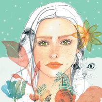 Libertad. Un proyecto de Ilustración, Bellas Artes, Pintura, Dibujo, Pintura a la acuarela, Ilustración de retrato, Dibujo de Retrato y Dibujo artístico de cristinajm007 - 20.08.2021