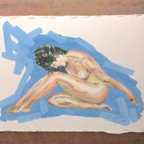 My project in The Human Figure in Watercolor course. Un progetto di Illustrazione, Belle arti, Pittura, Pittura ad acquerello, Disegno realistico , e Disegno anatomico di footscrayvic - 24.08.2021