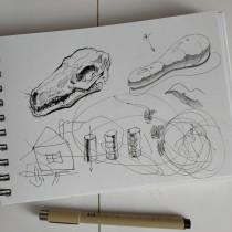 My project in Daily Sketching for Creative Inspiration course. Um projeto de Ilustração, Esboçado, Criatividade, Desenho e Sketchbook de Vadim Ladanov - 24.08.2021
