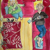 My project in Exploratory Sketchbook: Find Your Drawing Style course. A Illustration, Skizzenentwurf, Kreativität, Zeichnung, Aquarellmalerei, Sketchbook und Gouachemalerei project by Gina Haythorne - 25.08.2021