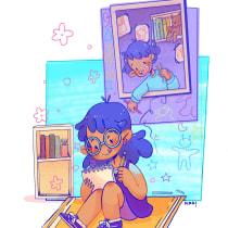 Mi Proyecto del curso: Ilustración digital con influencia manga. Um projeto de Ilustração, Comic, Ilustração digital, Stor, telling, Narrativa e Desenho mangá de Nina Chaves - 25.08.2021