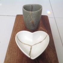Meu projeto do curso: Introdução ao kintsugi: restaure suas cerâmicas com ouro. Un projet de Artisanat, Beaux Arts, Céramique , et DIY de Maria Nagahama - 20.08.2021