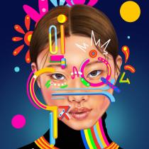 Mi Proyecto del curso: Retrato creativo ilustrado con Procreate. A Illustration, Drawing, Digital illustration, Portrait illustration, Portrait Drawing, Artistic drawing, Digital Drawing, and Digital Painting project by Jocelin Flores - 09.03.2021