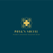 Pong's Social - a modern Cantonese restaurant in London. A Kunstleitung, Br, ing und Identität, Grafikdesign, Verpackung und Logodesign project by Tiana - 06.09.2021