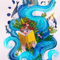 My project in Watercolor Techniques for Dreamlike Illustrations course. Un projet de Illustration, Dessin, Aquarelle et Illustration éditoriale de Oliwia Górska - 13.04.2021