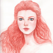 My project in Watercolor Portraits: Capture a Model's Personality course. A Fine Art, Painting, Watercolor Painting, Portrait illustration, and Portrait Drawing project by eimiel.art - 09.11.2021