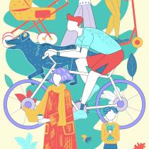 Mein Kursprojekt: Vektorillustration: Charakter und Farbe. Un projet de Illustration, Design graphique, Illustration vectorielle et Illustration numérique de yashan_oksana - 11.09.2021