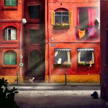 My project in Cinematic Digital Illustration with Photoshop course with the lovely Izzy Burton. Un proyecto de Ilustración, Ilustración digital y Concept Art de Kathleen - 01.09.2021