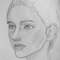 My project in Portrait Sketchbooking: Explore the Human Face course. Um projeto de Esboçado, Desenho, Desenho de Retrato, Desenho artístico e Sketchbook de Thanh Tran - 15.09.2021