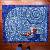 My project in Introduction to Mosaic Artwork course. A Crafts, Furniture Design, Decoration, Ceramics, and DIY project by Susanne Merrett - 09.17.2021