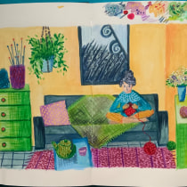 Mi Proyecto del curso: Sketchbook para explorar tu estilo de dibujo. A Illustration, Skizzenentwurf, Kreativität, Zeichnung, Aquarellmalerei, Sketchbook und Gouachemalerei project by anaisromasanta - 18.09.2021