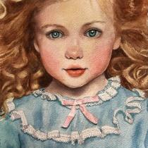My project in Watercolor Portrait from a Photo course. Un progetto di Illustrazione, Pittura ad acquerello, Illustrazione di ritratto , e Disegno di ritratto di brenda.mickelson - 19.09.2021