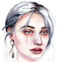 Mein Kursprojekt: Expressive Aquarellporträts . Un progetto di Illustrazione, Belle arti, Pittura, Pittura ad acquerello, Illustrazione di ritratto , e Disegno di ritratto di Tina Ritter - 19.09.2021