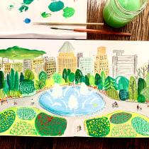 My project in Pictorial Sketchbook with Gouache course. Un projet de Illustration, Esquisse , Dessin, Illustration architecturale, Carnet de croquis , et Peinture gouache de Kaye Shu - 20.09.2021