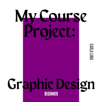 Meu projeto do curso: Design gráfico para iniciantes. Un proyecto de Diseño, Br, ing e Identidad, Diseño gráfico, Tipografía, Diseño de logotipos y Diseño tipográfico de Carla Thalita lima - 15.09.2021