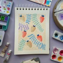 Meu projeto do curso: Cores na aquarela: descubra sua personalidade cromática. A Illustration, Fine Art, Painting, Watercolor Painting, and Color Theor project by raquelpadovani - 08.29.2021