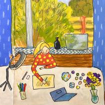 My project in Exploratory Sketchbook: Find Your Drawing Style course. Un progetto di Illustrazione, Bozzetti, Creatività, Disegno, Pittura ad acquerello, Sketchbook , e Pittura gouache di Виктория Морозова - 26.09.2021