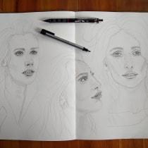 Mi Proyecto del curso: Sketchbook de retrato: explora el rostro humano. Un proyecto de Bocetado, Dibujo, Dibujo de Retrato, Dibujo artístico y Sketchbook de Ana Karina Moreno - 28.09.2021