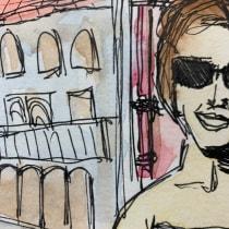 Meu projeto do curso: Sketching artístico em aquarela: ouse expressar suas ideias. A Illustration, Skizzenentwurf, Kreativität, Zeichnung, Aquarellmalerei und Sketchbook project by Jessica Marques - 18.09.2021