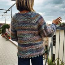 Il mio progetto del corso: Top-down: capi interi all'uncinetto. A Mode, Modedesign, Weben, DIY und Crochet project by Lorella Francesconi - 10.10.2021