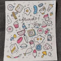 Il mio progetto del corso: Doodling creativo e hand lettering per principianti. Un progetto di Disegno, H , e lettering di aguzzi.alessandra - 10.10.2021