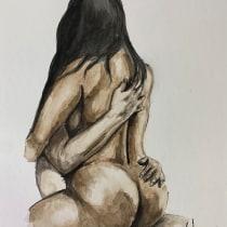 Ensayo. Un progetto di Illustrazione, Belle arti, Pittura, Pittura ad acquerello, Disegno realistico , e Disegno anatomico di Daniel Forero - 11.10.2021