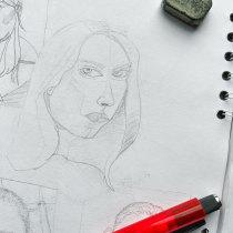 Mi Proyecto del curso: Sketchbook de retrato: explora el rostro humano. Un proyecto de Bocetado, Dibujo, Dibujo de Retrato, Dibujo artístico y Sketchbook de Efrain Angarita - 11.10.2021