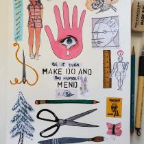 My project in Inside a Creative Notebook: Explore Your Illustration Process course. Un progetto di Illustrazione, Bozzetti, Creatività, Disegno, Pittura ad acquerello, Illustrazione infantile, Sketchbook , e Pittura gouache di thedra3 - 11.10.2021