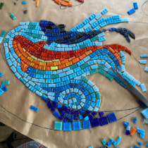 My project in Introduction to Mosaic Artwork course. A Crafts, Furniture Design, Decoration, Ceramics, and DIY project by jane.bonney - 10.12.2021