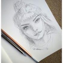 My project in Portrait Sketchbooking: Explore the Human Face course. Um projeto de Esboçado, Desenho, Desenho de Retrato, Desenho artístico e Sketchbook de Tal Kalman - 14.10.2021