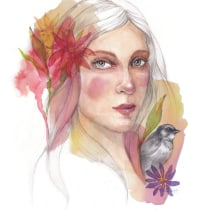 My project in Illustrated Portrait in Watercolor course. A Illustration, Fine Art, Painting, Drawing, Watercolor Painting, Portrait illustration, Portrait Drawing, and Artistic drawing project by jannamarit - 10.21.2021