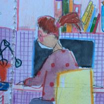 Meu projeto do curso: Sketchbook experimental: encontre seu estilo de desenho. A Illustration, Sketching, Creativit, Drawing, Watercolor Painting, Sketchbook, and Gouache Painting project by Sandrine Da Fonte - 10.25.2021